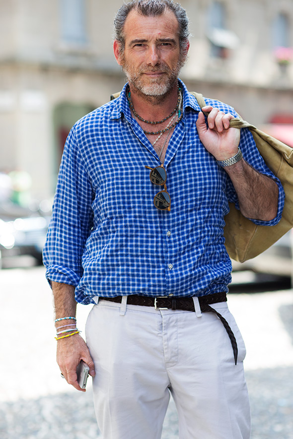 Casual-Friday-Italian-Style-sartorialist-blog-fashion-men-gingham-blue